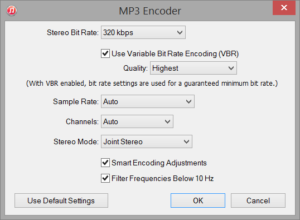iTunes - MP3 Encoder Settings